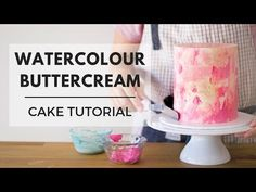Watercolour Painted Buttercream Tutorial - How to Textured Cake Effect Cake Icing Techniques, Cake Decorating Techniques, Cake Decorating Tips, Watercolor Cake Tutorial, Watercolour, Easy Minecraft Cake, Pear Cake, Individual Cakes, Frosting Tips