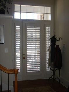 Elegant Entry Door Window Treatment