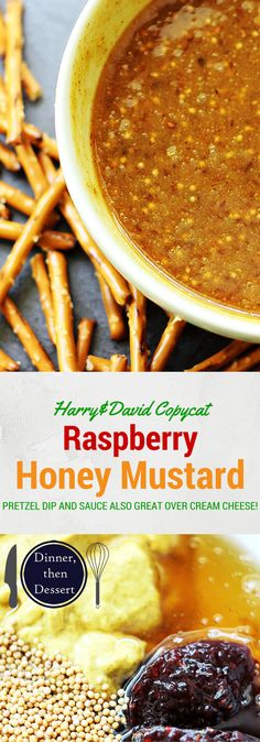 Spicy Brown Mustard, sweet Honey & Raspberry Preserves make this Raspberry Honey Mustard Dip ADDICTING! A Harry&David all-time favorite!