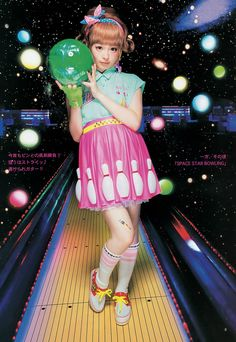 Kyary Pamyu Pamyu~~♥♪♫ Japanese music fashion icon--!☆★☆ kawaii fashion. . .bowling theme. . .colorful. . .kawaii