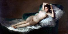 """""""A Maja Nua"""". (c.1795/1800). (by Francisco de Goya).  Museu do Prado."""
