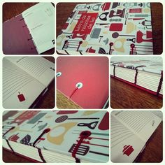 Caderno de Receitas | Recipes | Costura: Coptic Stitch | Bookbinding | A5 | by Fernanda Pasqualeto