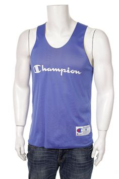 b7ad9934ece645 Items similar to Champion Top Tank Reversible Jersey Big Logo Spell Out Hip  Hop Style Navy Blue Yellow Size M on Etsy