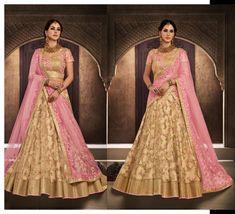 Lengha Choli, Saree, Beige Wedding, Lahenga, Party Wear, Wedding Inspiration, Indian, How To Wear, Design