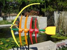 recycle Garden art. Made from old garden tools.