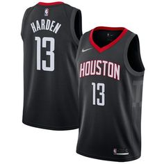 3891ba614 Nike Rockets  13 James Harden Black Statement Edition NBA Swingman Jersey  Rockets Basketball