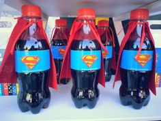 Avengers birthday party drinks See more party ideas at Marvel Birthday Party Drinks, Superman Birthday Party, Avengers Birthday, Batman Party, Superhero Party, Boy Birthday Parties, Birthday Ideas, Avenger Party, Fête Spider Man
