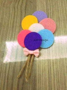 Keçe, nikah şekeri, bebek şekeri, magnet: Keçeden balon demeti ( :