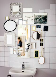 You can never have too many mirrors - they create a feeling of spaciousness and a statement wall upon which you can gaze!