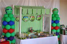 Ninja Turtle themed birthday party. X