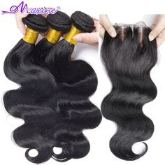 9900ac02e9b Rosa Hair Products Brazilian Virgin Hair With Closure Brazilian Body Wave  Lace Closure With Hair Bundles Brazillian Virgin Hair    Check out the  image by ...