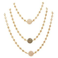 Diamond Rose Gold 60 Inch Chain | From a unique collection of vintage chain necklaces at https://www.1stdibs.com/jewelry/necklaces/chain-necklaces/