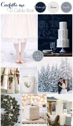 Winter wedding cozy cable knit inspiration  #winter #weddings