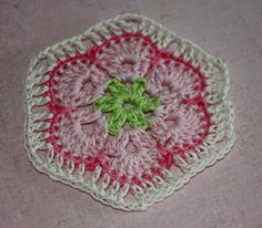Pretty Flower Doily Crochet Coasters  Set of 4 by kylieB on Etsy, $14.00