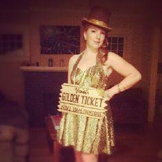 Golden Ticket Halloween Costume Willy Wonka