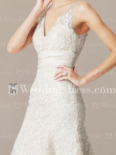 Elegant V-Neck Wedding Dresses $274