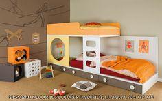 Dormitorios Infantiles HABITAT 104. Decoración Beltrán, tu tienda online en mobiliario juvenil e infantil. Puedes encontrarlo en : www.decoracionymadera.com