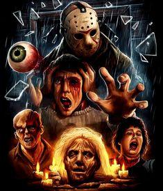 Jason Voorhees-Friday the Horror Movie Tattoos, Horror Movie Characters, Horror Movies, Horror Villains, Horror Icons, Horror Movie Posters, Jason Voorhees, Jason Viernes 13, Horror Artwork