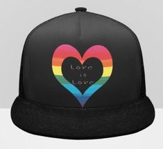 LGBT Pride Love is Love Truckers Hat-2 to Choose From Lgbt Shirts, Beach Activities, Pride, Baseball Hats, Gay, Unisex, School, Gifts, Outfits