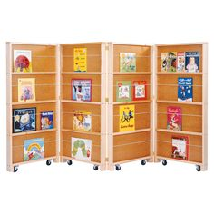Jonti-Craft | Mobile Library Bookcase - 4 Sections