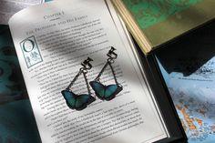 Blue Morpho Butterfly ClipOn Earrings by GypsieMermaid on Etsy, $8.00