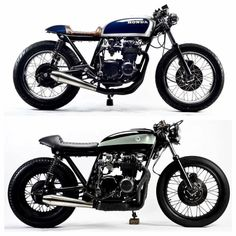 Which CB550 by @motohangar do you prefer? See more of each bike... #overbold #caferacer #motorcycle #bratstyle #bobber #custom #bcn #bikes #motorbike #bespoke #handmade #caferacer #overboldmotorco #tracker #streettracker #flattracker #honda #yamaha #suzuki #ossa #triumph #bmw #guzzi #motoporn #lifestyle #cafexxx #dirttrack #flattracker