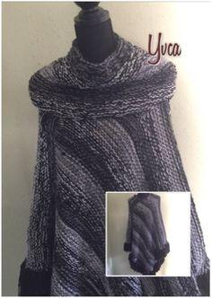 Yvca's Brei en Haakwerkjes : Gebreide poncho met losse coll