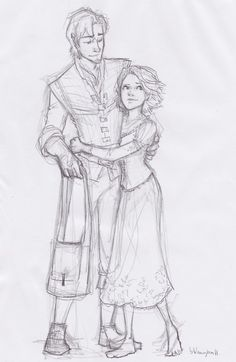 Eugene and Rapunzel by Burdge-Bug ^-^ D'aww, it's so cute. Not to mention well drawn! Burdge is epic.