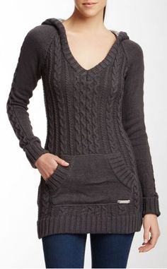 Long grey Superdry jumper dress /owned Winter Outfits, Cool Outfits, Fashion Outfits, Estilo Jeans, Cable Knit Sweaters, Autumn Winter Fashion, Casual Wear, Knitwear, Sweaters For Women