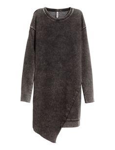H&M DIVIDED grey black faded sweatshirt