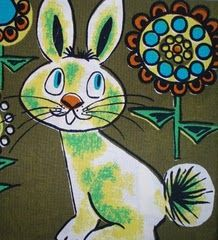 Lovely Finnish Vintage Fabric for children of the 60's
