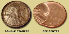 Wheat penny error coins.