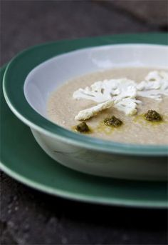 Cauliflower soup with green olive tapenade | canada.com