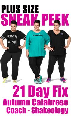 Beachbody has launched a sneak peek of their 1st PLUS SIZE apparel line prior to the full line launch at Summit in July 2016!  I am proud to have been a part of the development of this line as well as the being asked to be the model. FINALLY, we have options for those of us that LOVE 21 Day Fix, Coach, AND Shakeology as well as Autumn Calabrese Collection Work Wish shirt!  Shop at TeamBeachbody.com or reach out to your coach!