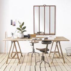 Table de travail - desuet.fr Decoration, Office Desk, Table, Furniture, Home Decor, Home, Decor, Desk Office, Decoration Home