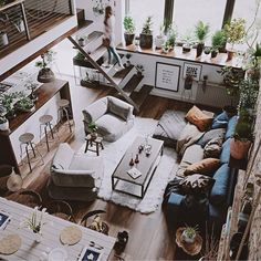 Loft Design, Tiny House Design, Loft Industrial, Green Apartment, Casa Loft, House Rooms, My Dream Home, Home Interior Design, Loft Apartment Decorating