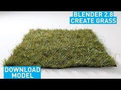 Creating grass in blender Blender 3d, Blender Models, 3d Drawing Tutorial, 3d Tutorial, Ninja Professional Blender, Blender Tutorial, Modeling Tips, 3d Drawings, Cg Art