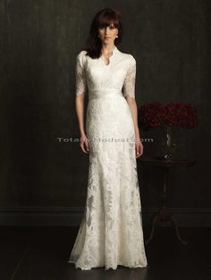 Alexandra Totally Modest WEDDING dresses, PROM & Bridesmaid dresses w/ sleeves