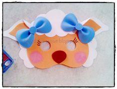 ARTE COM QUIANE - Paps e Moldes de Artesanato : Molde Máscara de Ovelha - Páscoa Kids Crafts, Sheep Crafts, Foam Crafts, Diy And Crafts, Arts And Crafts, Paper Crafts, Farm Birthday, Boy Birthday Parties, Sheep Mask