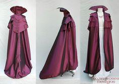 Violet Taffeta Fairy Cloak