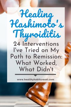 The list of conventional and alternative interventions to try for Hashimoto's Disease treatment is endless. Here are 24 I've tried so far including diets, supplements, etc. and whether or not they worked for me. Hashimotos Disease Diet, Hashimoto Thyroid Disease, Hypothyroidism Diet, Thyroid Diet, Thyroid Health, Autoimmune Disease, Thyroid Levels, Thyroid Supplements, Home Remedies