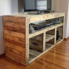 30+ Easy DIY TV Stand Designs Made Of Pallet Woods