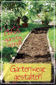 Gartenwege It does not always have to be pavement! These You can invest quickly and cheaply yourself – they break down the and make it more usable! 24 inspirations for garden inspirations for garden Amazing ideas for DIY garden paths and walkways Garden Types, Garden Paths, Garden Landscaping, Diy Garden Projects, Diy Garden Decor, Farm Gardens, Outdoor Gardens, Garden Cottage, Plantation