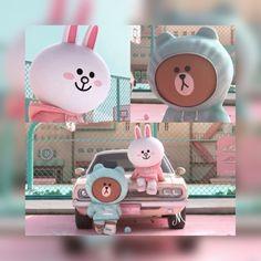 Cony Brown, Cute Couple Cartoon, Brown Line, Line Friends, Gremlins, Line Sticker, Cute Bears, 3d Character, Weird Facts