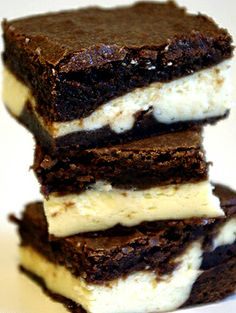 Bailey's Irish Cream Brownies, I may put a little green in the cream cheese layer for St. Patty's Day.