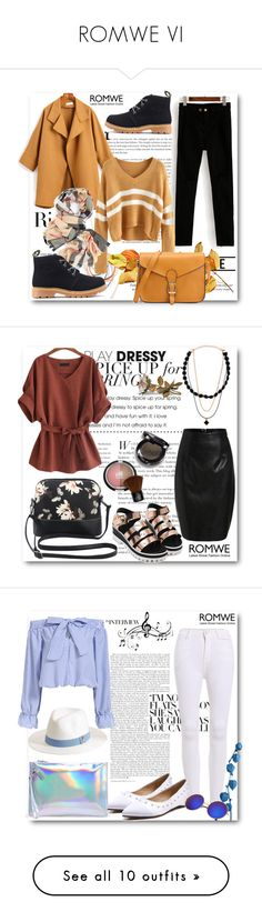 """""""ROMWE VI"""" by belmina-v ❤ liked on Polyvore featuring Tiffany & Co., Music Notes, Melissa Odabash, Natural Life, Parlane, Burberry, Yves Saint Laurent, Laura Geller, Whiteley and WALL"""