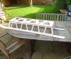 DIY Toboggan from old Skis by gerrit_hoekstra, instructables #DIY #Toboggan #Upcycle