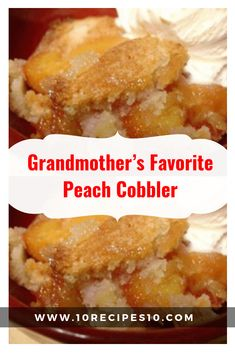 Ingredients: 1 stick butter 1 cups sugar 1 cup flour 1 teaspoons baking powder cup milk 1 can ounces) sliced peaches in syrup 1 teaspoon cinnamon teaspoon nutmeg Directions: Pre… Canned Peach Cobbler Recipe, Can Peach Cobbler, Peach Cobbler With Bisquick, Old Fashioned Peach Cobbler, Homemade Peach Cobbler, Southern Peach Cobbler, 4 Ingredient Peach Cobbler Recipe, Peach Cobbler Recipe Without Milk, Crock Pot Peach Cobbler