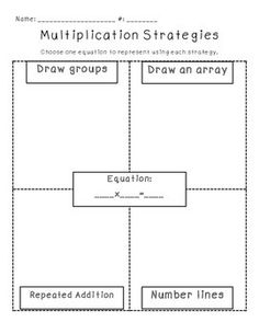 Multiplication Strategies Anchor Chart / Posters | Anchor charts ...
