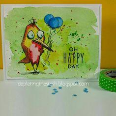 Depleting My Stash: My Journey: Oh Happy Day